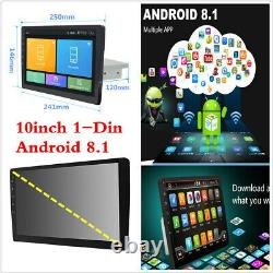 10inch 1Din Android 8.1 Car Stereo Radio GPS WiFi 3G/4G BT DAB Mirror Link OBD