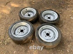 13 4x108 Ford Banded Steel Wheels Mk1 Mk2 Cortina Escort Anglia Capri Lotus