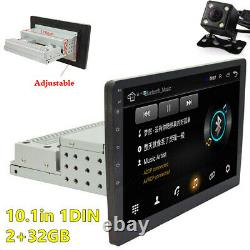1DIN 10.1in Android 8.1 Car Stereo Radio GPS NAVI Bluetooth Player WiFi +Camera