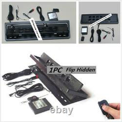 1 Pcs Flip License Plate Frame Swap Shift Turn Blinds with Remote For EU Vehicles
