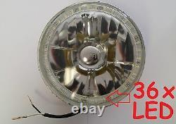 1pr WHITE 7 Halo Angel Eye Headlights Ford Cortina Mk1 Mk2 Escort Lights