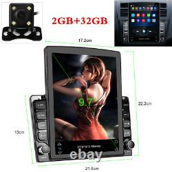 2+32GGB 9.7In Car Stereo FM MP5 Player Bluetooth GPS Sat NAV Android 9.1+Camera