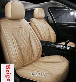 5D Full Surround Car Seat Covers Full Set Cushion+Pillows For 5-Seats Car Sedan