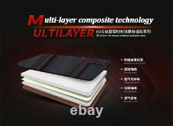 6D Luxury Breathable PU Leather Seat Covers Cushion Black Red Car SUV Full Set