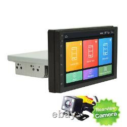 7In 1DIN Car Stereo Radio FM MP5 Player Android 9.1 Sat NAV GPS With 4LED Cams