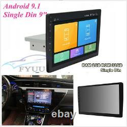 9Single Din Adjustable Android 9.1 GPS Wifi 3G 4G BT DAB 32GB+2GB OBD Quad Core