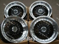 Alloy Wheels 17 RS For Ford B max Cortina Courier Ecosport Escort 4x108 Black