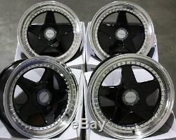 Alloy Wheels X 4 17 Black F5 Fits Ford B Max Escort Focus Puma Sierra Ka 4x108