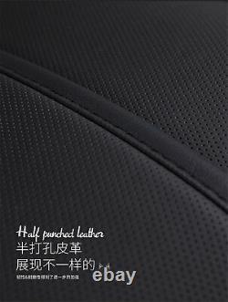Black Luxury Full Seat Microfiber Leather 6D Surround Car Seat Cover Set Cushion