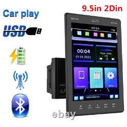 Bluetooth Car Stereo Radio 9.5in 2Din Vertical Screen FM/USB/AUX/MP5/Mirror Link