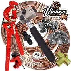 Classic Mini SAE 3/8 UNF 3/16 Copper Nickle Brake Pipe Flaring Restoration Kit