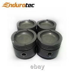 Dish Top Piston & Ring Set +040 FOR Ford Cortina Escort 1300 1600 X Flow 68-81