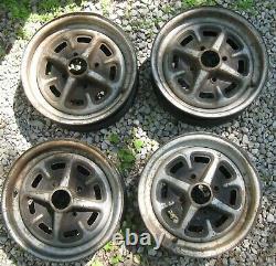 Ford Cortina Escort Capri Rostyle Wheel Rim Set (4) Wheels 13-Inch Used Orig