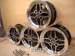 Ford Escort Capri Cortina 6x13 Alloy Wheel Set Jbw Rs4 Spoke Style 13x6 Et16