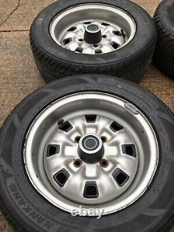 Ford Escort/Cortina/Capri 5.5j Deep Dish Steel Wheels With Excellent Tyres