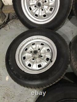 Ford Escort Mk2 Cortina Capri 13 Steel Wheels And Nearly New Tyres