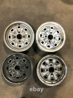 Ford Escort Mk2 Mk1 Mexico Rs2000 Cortina Gt Capri Steel Rims X4