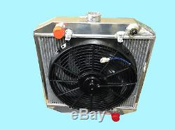 Ford Escort Mk 1 / 2, Cortina 42mm Core Aluminium Radiator + 14 Fan & Switch