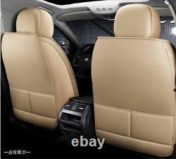 Full Set Leather5-Seats Car Seat Cover Cushions Pillows For Interior Accessories