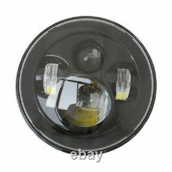 JTX 7 LED Headlights Black no Halo Ford Cortina Mk1 Mk2 Escort