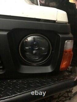 JTX 7 LED Headlights Blacked Out Halo Ford Cortina Mk1 Mk2 Escort RS2000