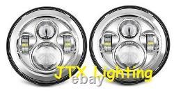 JTX 7 LED Headlights Chrome no Halo Ford Cortina Mk1 Mk2 Escort