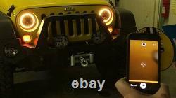 JTX 7 LED Headlights RGB Rainbow Halo Ford Cortina Mk1 Mk2 Escort