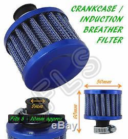 OIL MINI BREATHER AIR FILTER FUEL CRANKCASE ENGINE CAR BLUE Ford 1