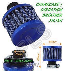 UNIVERSAL OIL MINI BREATHER AIR FILTER-FUEL CRANKCASE ENGINE CAR-BLUEFord 1