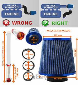 UNIVERSAL PERFORMANCE AIR FILTER COLD AIR FEED INDUCTION KIT 2102BF-Ford 1