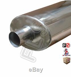 UNIVERSAL STAINLESS STEEL PERFORMANCE EXHAUST BACKBOX BK15071 Ford 1