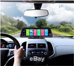10 Android 8.1 Dash Car Cam 4g Wifi Adas Double Objectif De Navigation Gps Dvr Caméra