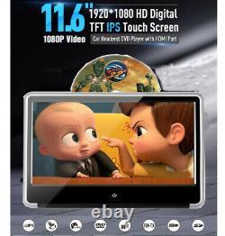 11,6 Pouces Ips Voiture Moniteur Appuie-tête Lecteur DVD Hd 1080p Vidéo À Écran Tactile Hdmi