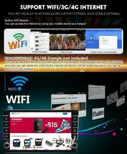 1+16g 1 Din Réglable 8po Android 8.1 Quad-core Car Stereo Radio Wifi Gps Navi