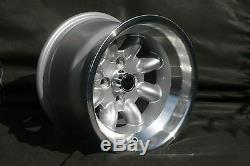 2 Ford Escort Capri Taunus Cortina Felgen 9x13 Silber / Poliert Tüv Teilegutachten
