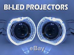 2 X 3 Complet Bi-led Retrofit Projecteurs Suaire Objectif Halo Comme Xenon Hid Blanc