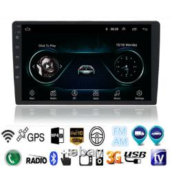 2din Car Touch Screen 10.1'' Android 9.1 Stereo Radio Bt Gps Wifi Mirror Link