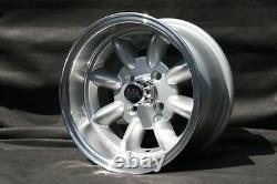 4 Ford Escort Taunus Cortina Capri Felgen 7x13 Silber/poliert Tüv Teilegutachten