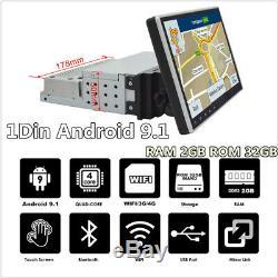9 Simple 1din Android 9.1 Car Stereo Radio Gps Nav Wifi 3g 4g Obd2 Mlk Bt 2 + 32g