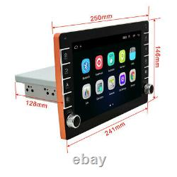 Android 8.1 9in 1din Voiture Wifi Radio Stereo Gps Navi Bluetooth Mp5 Avec Caméra 4led