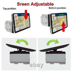 Android 9.1 10.1in Double 2din Voiture Stereo Radio Gps Navi Wifi Fm Mp5 Player+cams