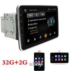 Android 9.1 Double Din 10.1 Gps Sat Car Stéréo Wifi 4g Radio Lecteur Mp5 32g+2g