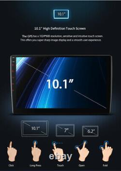 Bt Voiture In-dash 10.1 2din Android 9.1 Gps Navs Head Unit Stéréo Radio Mp5 Player