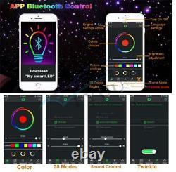 Car Starry Twinkle Fibre Optique Lampes Bt App Contrôle Voûte Lumière Rgb Withremote