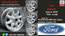 Cerchi Minilite 13 Pollici Ford Escort Capri Cortina Taunus Tc Roues Felgen