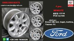 Cerchi Minilite 6j 13 Pollici Ford Escort Capri Cortina Taunus Tc Roues Felgen