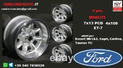Cerchi Minilite 7j 13 Pollici Ford Escort Capri Cortina Taunus Tc Roues Felgen
