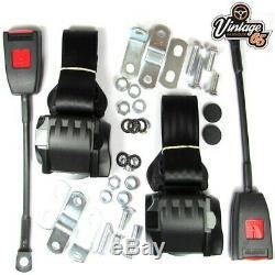 Classique Ford Avant Paire Entièrement Automatique De Ceinture Noire Inertie Seat Kits E Approuvé