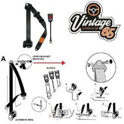Classique Ford Front Pair Entièrement Automatique Inertie Beige Kits Ceinture De Sécurité E Approuvé