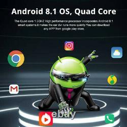 Console Centrale Dual Lens Dash Camera Wifi Dvr Gps 2+32g Enregistreur 8po Android 8.1